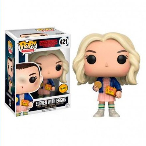 Onze com Peruca / Eleven and Eggos (CHASE Limited Edition) - Funko Pop Stranger Things