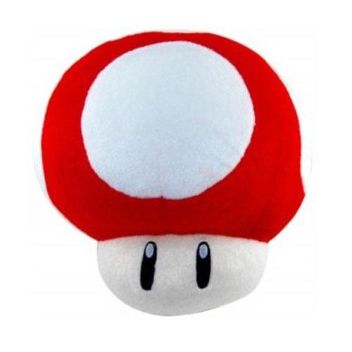 Cogumelo Vermelho - Pelúcia Mario Bros