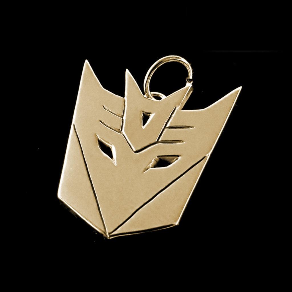 Pingente - Transformers Decepticons - Folheado a Ouro