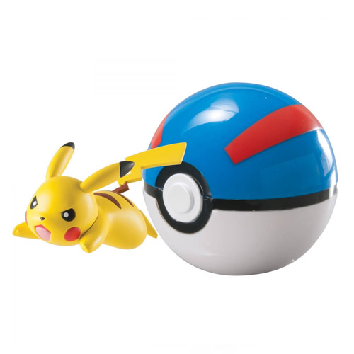 Pokebola / Great Ball com Pikachu - Pokemon