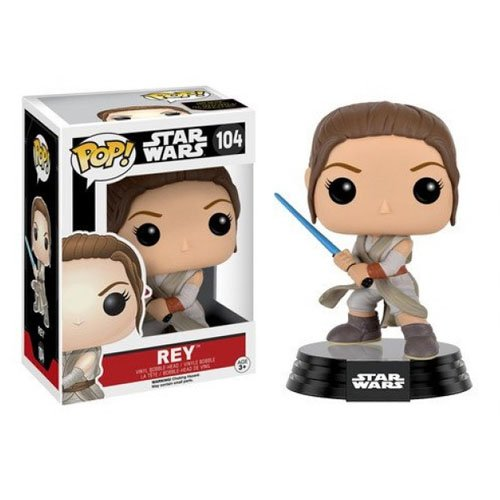 Rey com Lightsaber / Sabre de Luz - Funko Pop Star Wars The Force Awakens