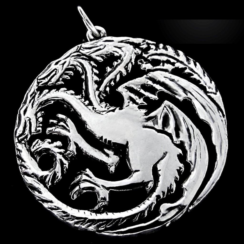 Imagem - Pingente House of Targaryen - Game of Thrones - Folheado a Prata cód: AA39