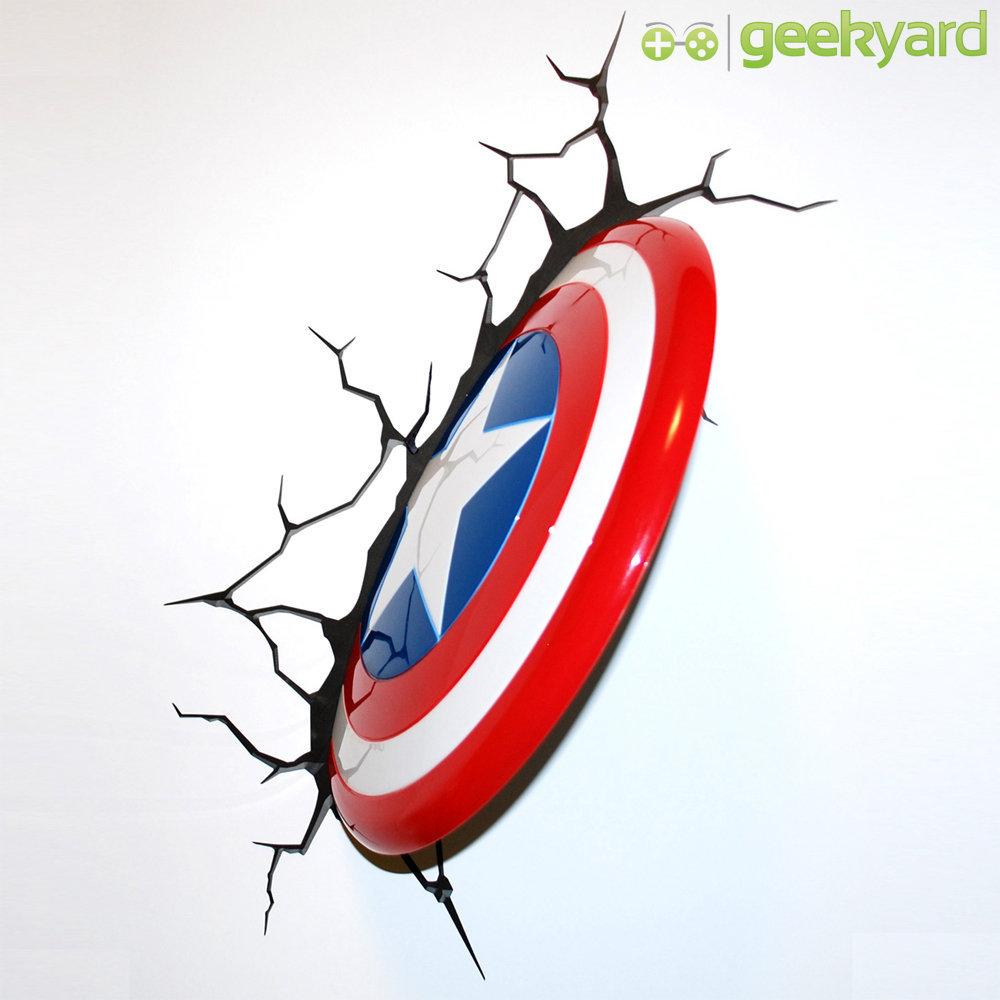Imagem - Escudo do Capitão América / Captain America - Luminária 3D Light FX Avengers cód: GD11