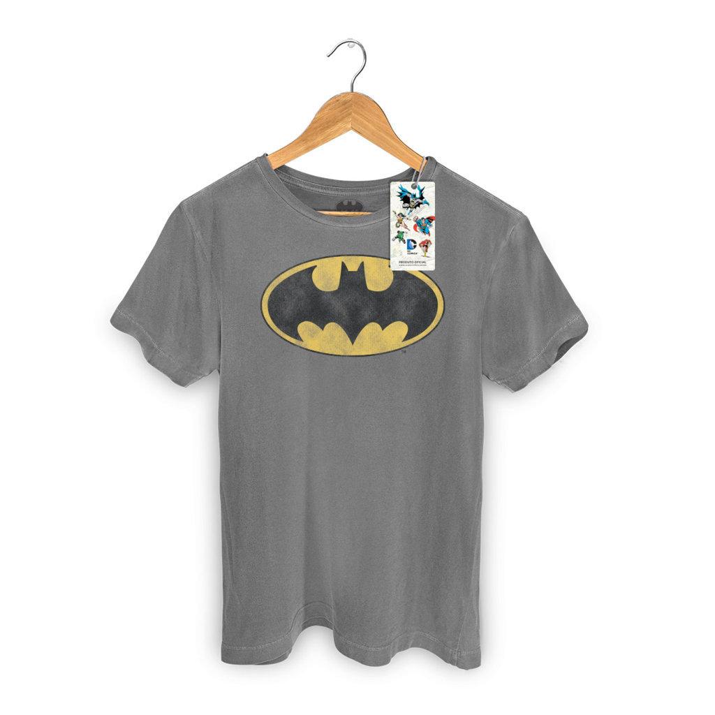 Imagem - Camiseta Batman Vintage (Logo) - Masculina - DC Comics cód: VA141