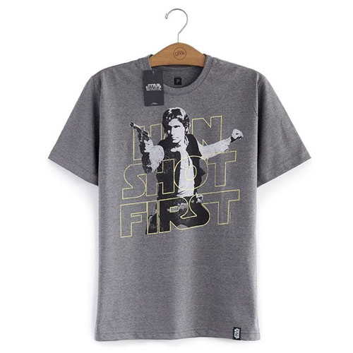 Imagem - Camiseta Star Wars - Han Solo - Han Shot First cód: VA166