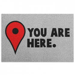 Imagem - Capacho de Vinil You Are Here - Pin Mapa cód: GB37