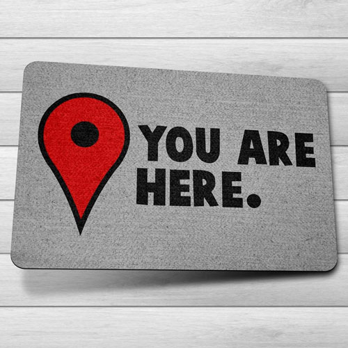 Imagem - Capacho Ecológico You Are Here - Pin Mapa cód: GB32