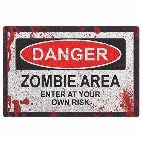 Imagem - Capacho Perigo Zumbi - Danger Zombie Area - Vinil cód: GB15