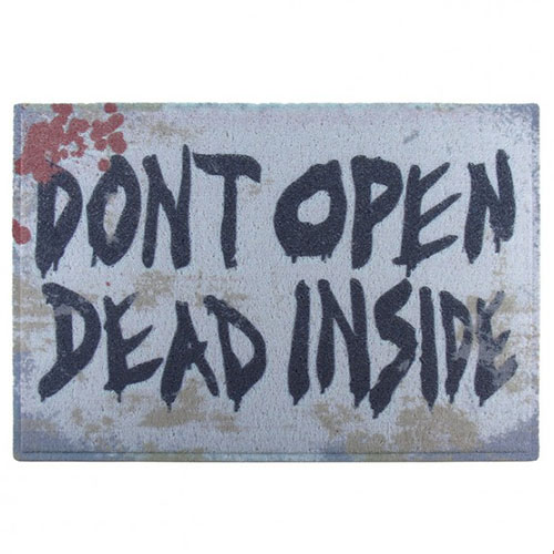 Imagem - Capacho Zumbi - Dont Open Dead Inside - Walking Dead cód: GB25