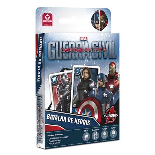 Imagem - Card Game Batalha de Heróis Capitão América - Guerra Civil  - Copag Marvel cód: JB32