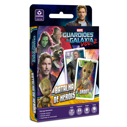Imagem - Card Game Batalha de Heróis Guardiões da Galáxia - Copag Marvel - JB42