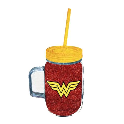 Imagem - Copo Jarra Mulher Maravilha / Wonder Woman com Canudo - DC Comics cód: GA123