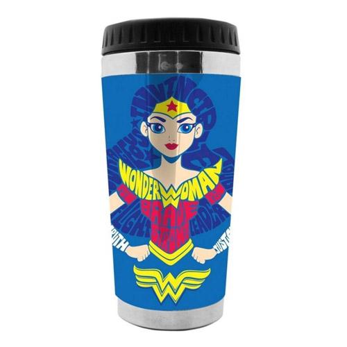 Imagem - Copo Térmico com Tampa Mulher Maravilha / Wonder Woman - DC Comics cód: GA141