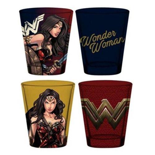 Imagem - Copos Shot Wonder Woman / Mulher-Maravilha (Set com 4) - DC Comics cód: GA138