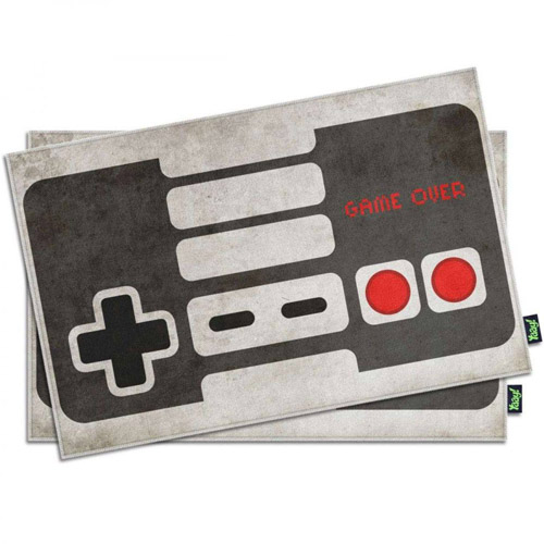 Imagem - Jogo Americano Gamer Joystick NES Retrô Branco cód: GA129