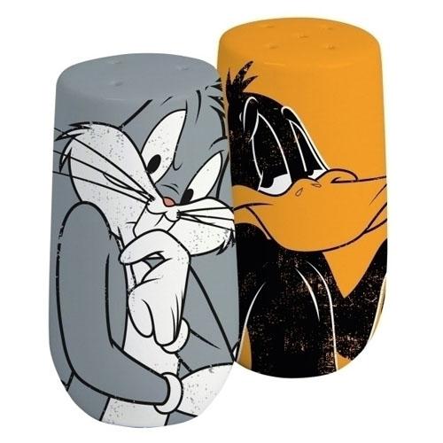Imagem - Kit Saleiro e Pimenteiro Pernalonga e Patolino / Bugs Bunny e Daffy Duck - Looney Tunes cód: GA107