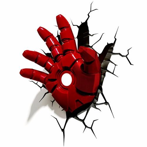 Imagem - Mão do Homem de Ferro / Iron Man - Luminária 3D Light FX Avengers cód: GD14