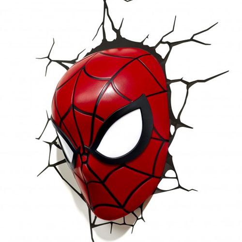 Imagem - Máscara do Homem-Aranha / Spider-Man - Luminária 3D Light FX cód: GD18