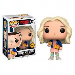 Imagem - Onze com Peruca / Eleven and Eggos (CHASE Limited Edition) - Funko Pop Stranger Things cód: CC309