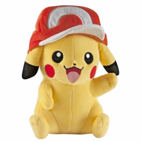 Imagem - Pikachu com Boné - Pelúcia Pokemon TOMY cód: CD81
