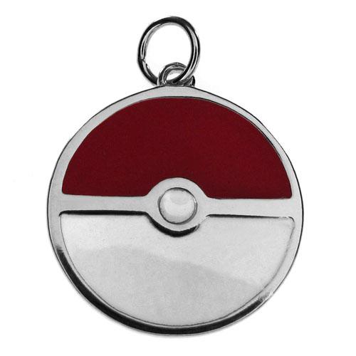 Imagem - Pingente Pokémon - Pokebola - Folheado a Prata cód: AA105