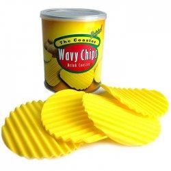 Imagem - Porta Copos Batatinhas Wavy Chips de Silicone - Set com 4 cód: SP05
