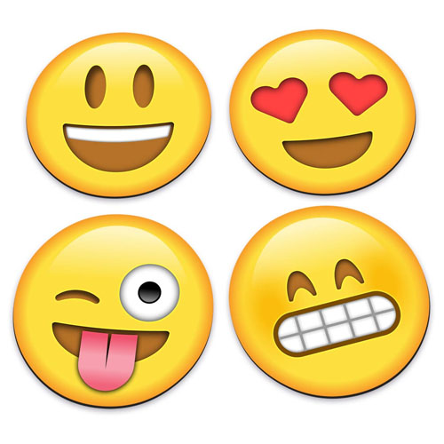 Imagem - Porta-Copos Emojis / Emoticons - Set com 4 cód: GA83