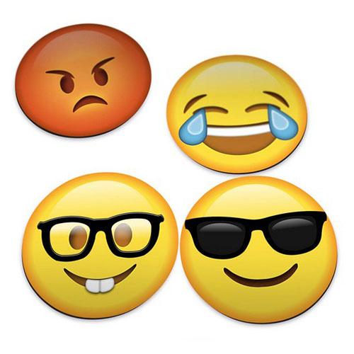 Imagem - Porta-Copos Emojis / Emoticons Versão 2.0 - Set com 4 cód: GA86
