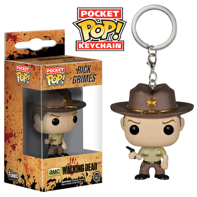 Imagem - Rick Grimes - Chaveiro Funko Pop Pocket The Walking Dead - AB18