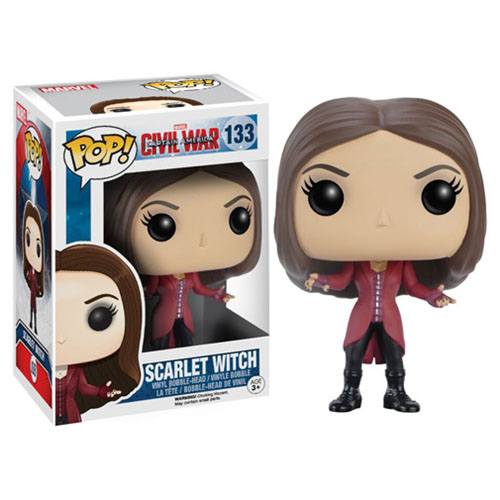 Imagem - Scarlet Witch / Feiticeira Escarlate - Funko Pop Captain America Civil War Marvel cód: CC111