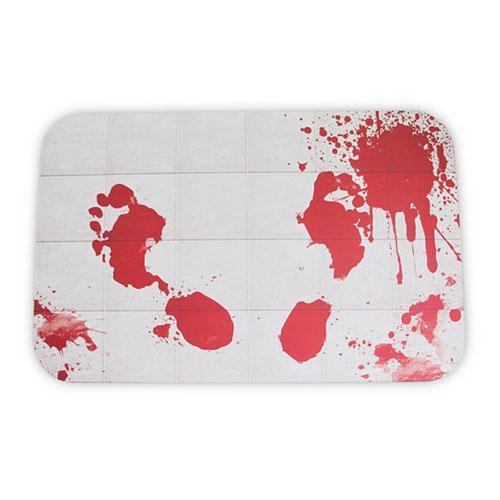 Imagem - Tapete de Banheiro Pegadas de Sangue - Blood Drops cód: GB27