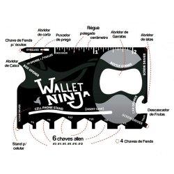 Imagem - Wallet Ninja - Cartão Multifuncional Gadget 18 em 1 cód: SP07