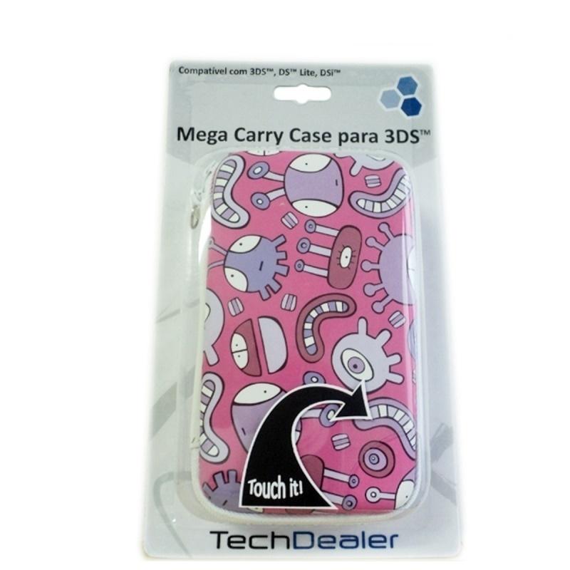 Acessório 3DS Mega Carry Case Inseto Rosa