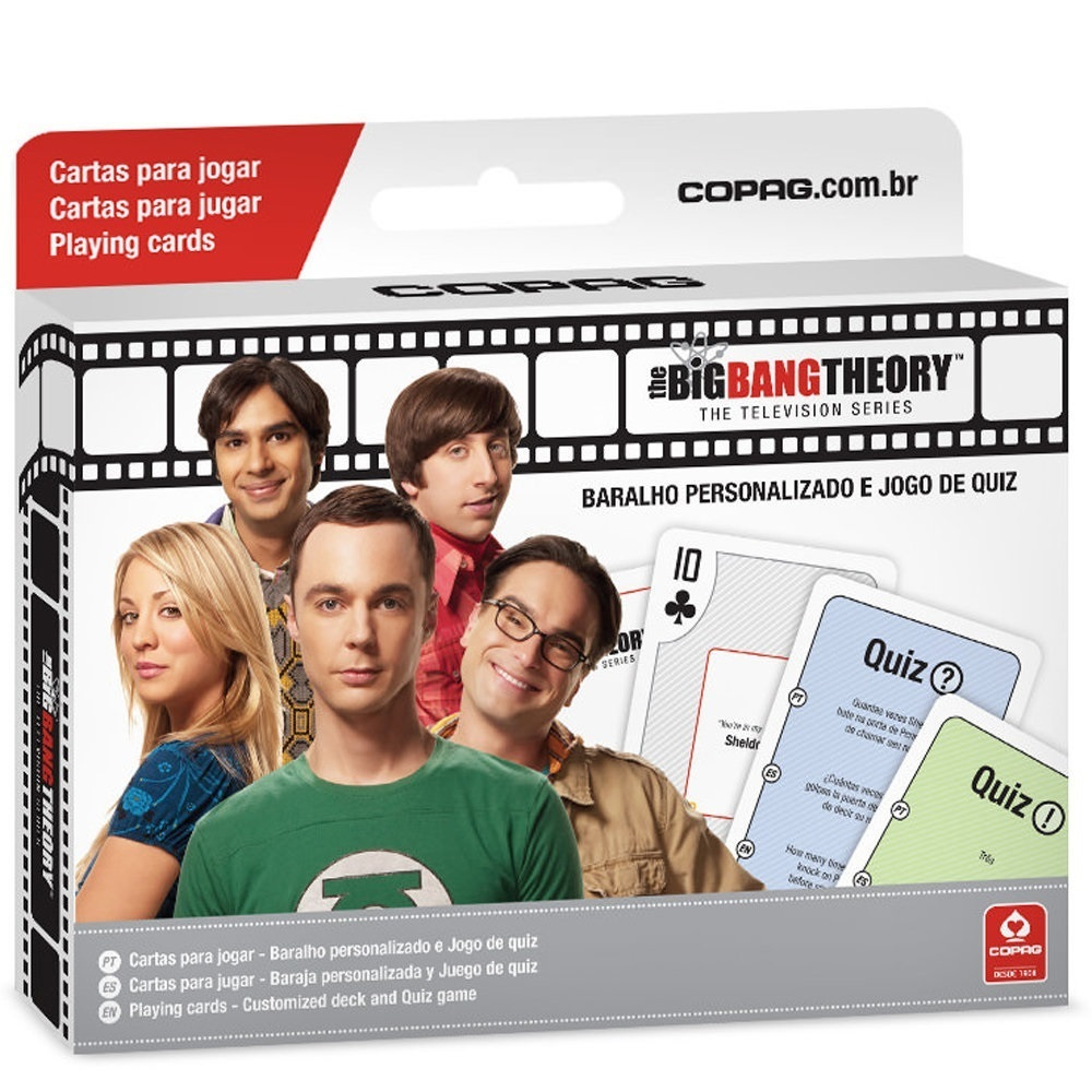 Box The Big Bang Theory - Baralho + Quiz Warner