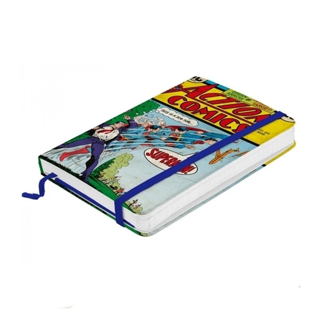 Caderneta DC Comics - Super Homem Em Ação