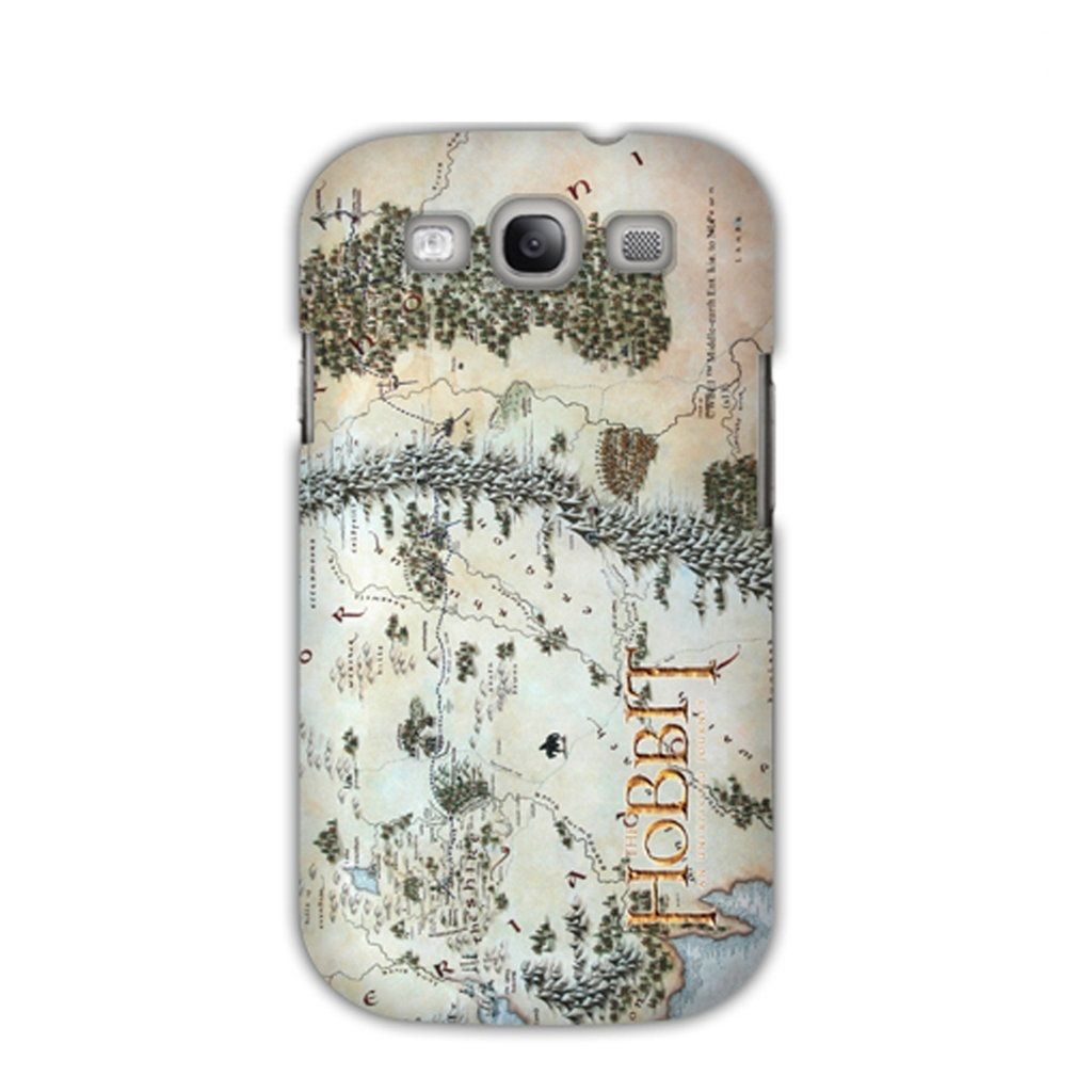 Capa Galaxy S3 - Mapa Middle Earth / Terra Média - O Hobbit