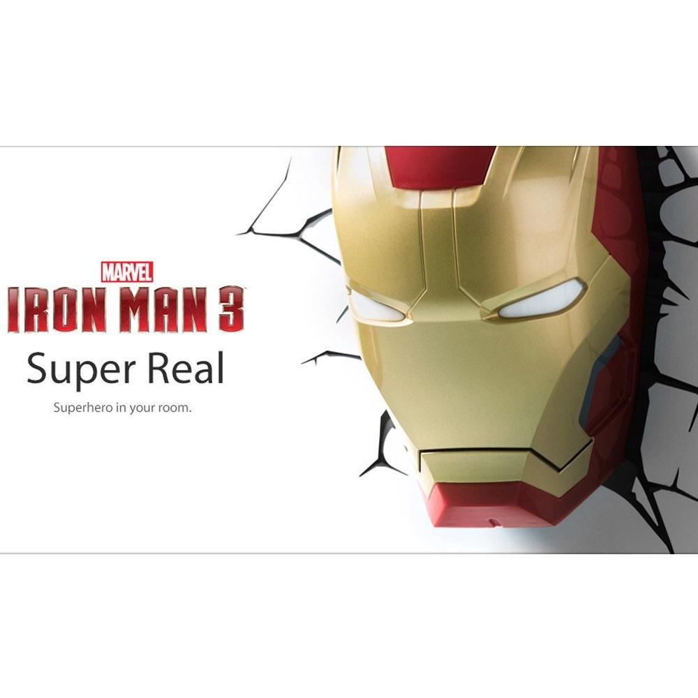 Máscara do Homem de Ferro / Iron Man - Luminária 3D Light FX Avengers 2