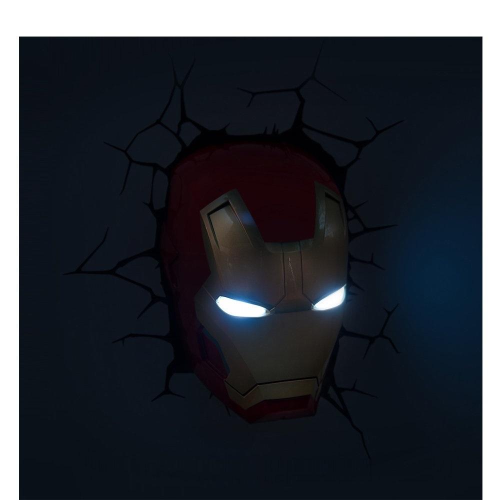 Máscara do Homem de Ferro / Iron Man - Luminária 3D Light FX Avengers 5