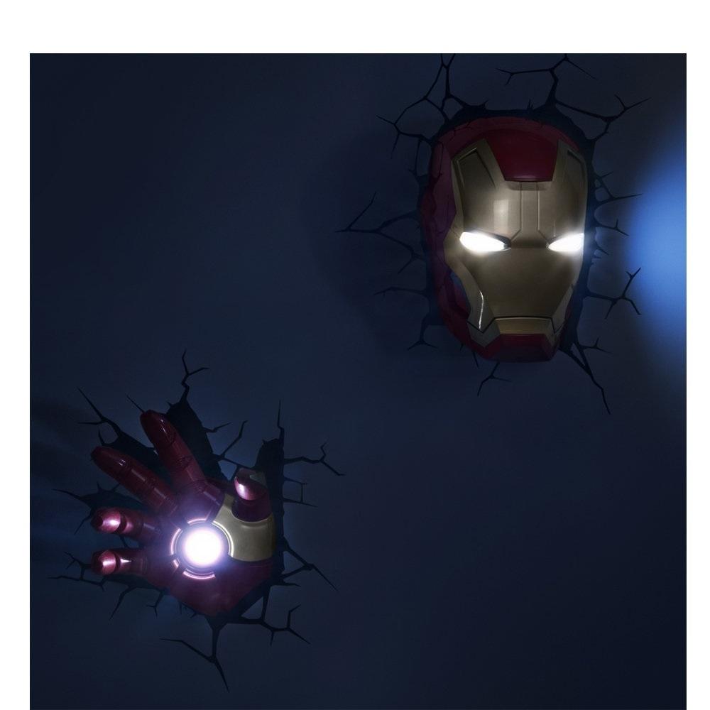 Máscara do Homem de Ferro / Iron Man - Luminária 3D Light FX Avengers 4