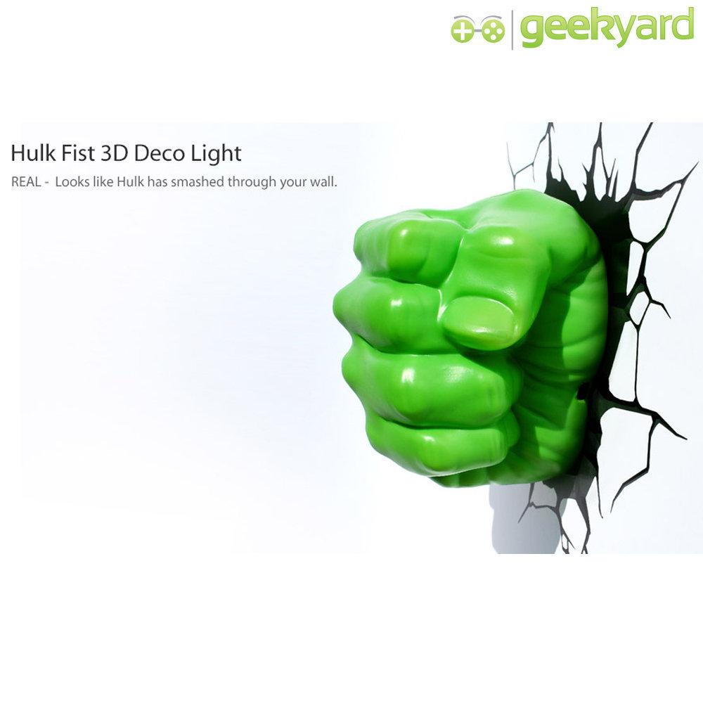 Punho do Hulk - Luminária 3D Light FX Avengers 5