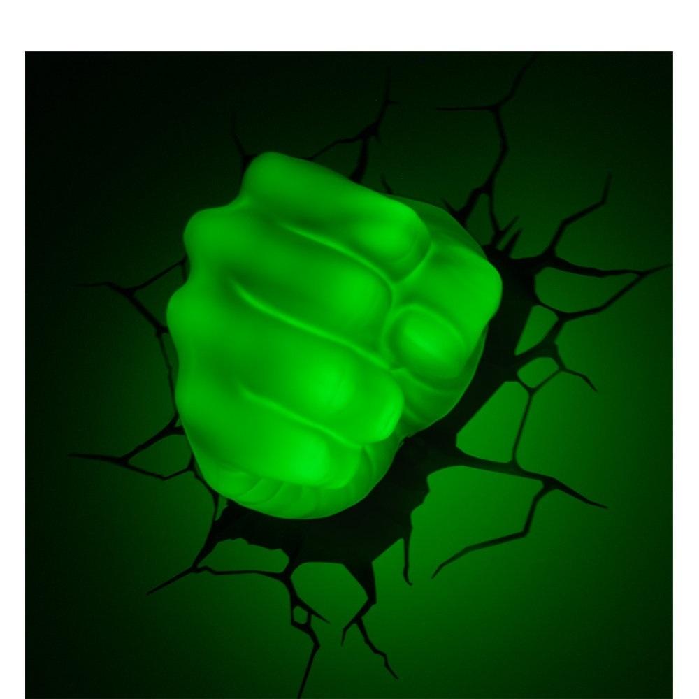 Punho do Hulk - Luminária 3D Light FX Avengers 2