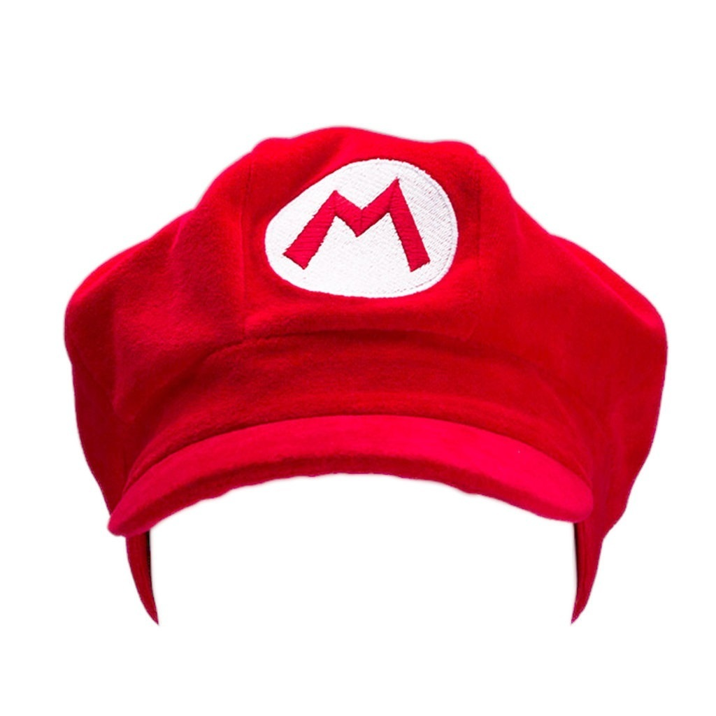 Chapéu de Pelúcia Mario Bros - Vermelho