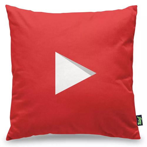 Almofada Play Button Subscribe YT Vermelha 2