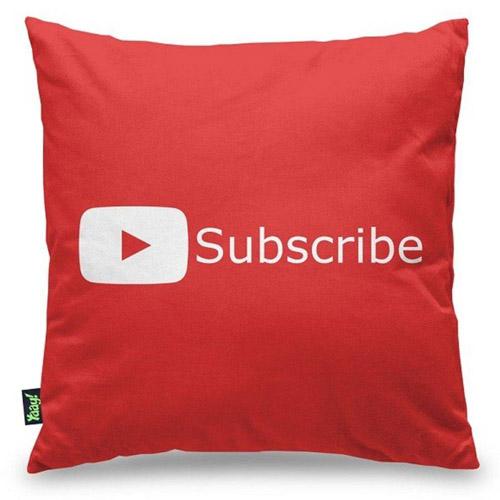Almofada Play Button Subscribe YT Vermelha 3
