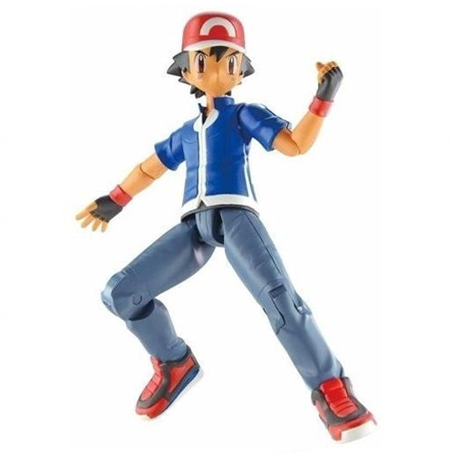 Ash e Pikachu com Pokebola e Pokedex - Action Figure Pokemon 2