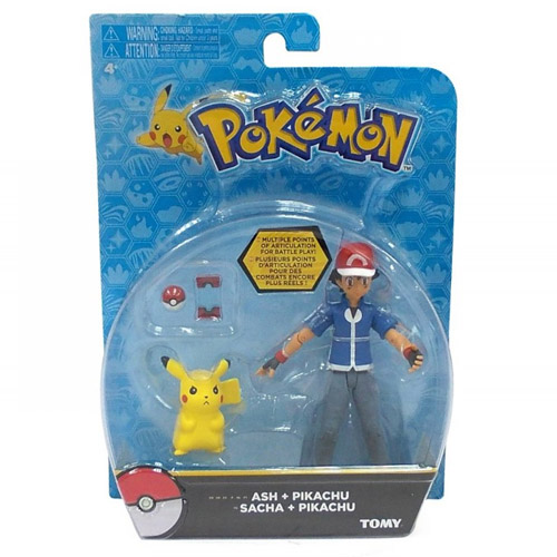 Ash e Pikachu com Pokebola e Pokedex - Action Figure Pokemon 3