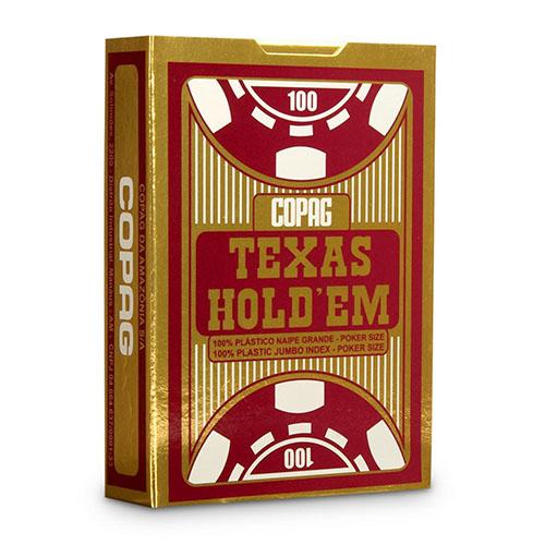 Baralho Poker Texas Hold'em Copag - Vermelho