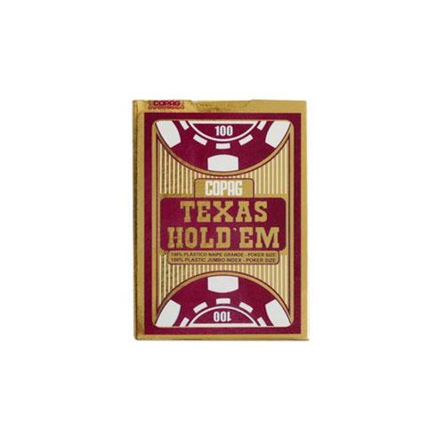 Baralho Poker Texas Hold'em Copag - Vermelho 3