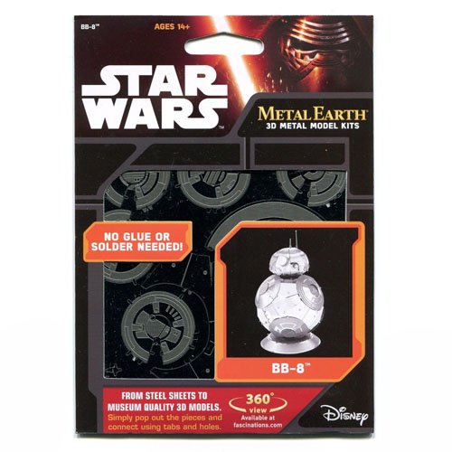 BB-8 - Miniatura para Montar Metal Earth - Star Wars 4