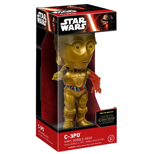 C-3PO - Bobble Head Star Wars The Force Awakens - Funko Wacky Wobbler 3